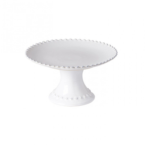 """Casafina Gift Footed Plate Pearl- 9"""""""