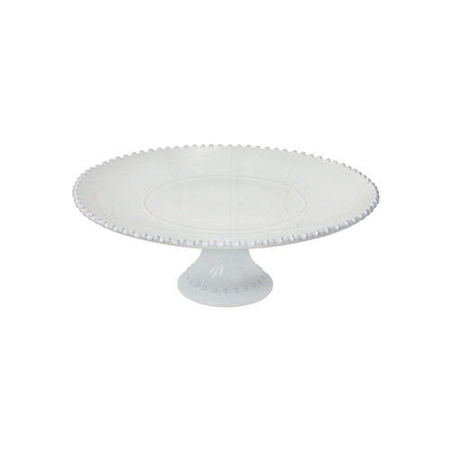 """Casafina Gift Footed Plate Pearl- 14"""""""