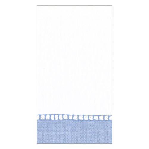 Caspari Linen Border Paper Guest Towel Napkins - 15 Per Package