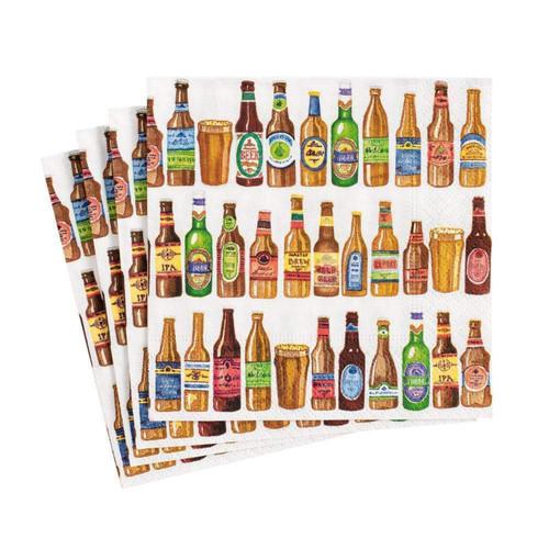 Caspari 99 Bottles Paper Cocktail Napkins - 20 Per Package