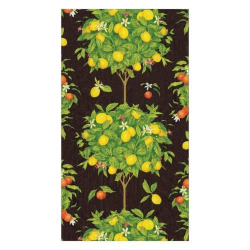 Caspari Citrus Topiaries Paper Guest Towel Napkins - 15 Per Package