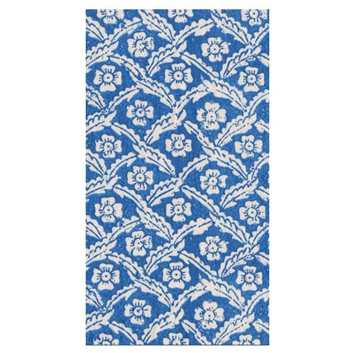 Caspari Domino Paper Floral Cross Brace Guest Towel