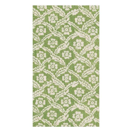 Caspari Domino Paper Floral Cross Brace Paper Guest Towel