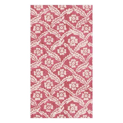 Caspari Domino Paper Floral Cross Brace Paper Guest Towel Napkins