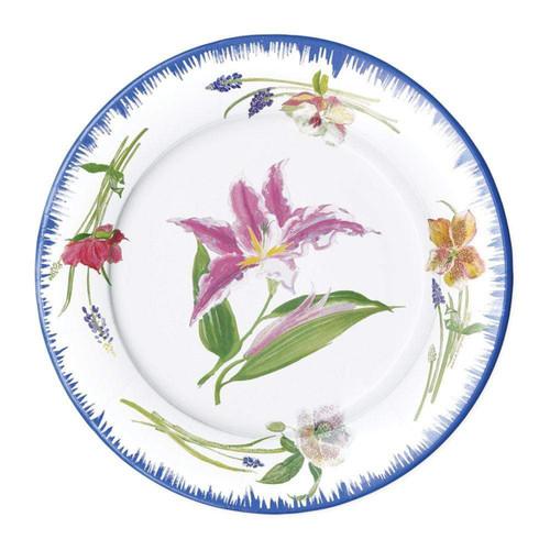 Caspari Isabelles Garden Paper Dinner Plates - 8 Per Package