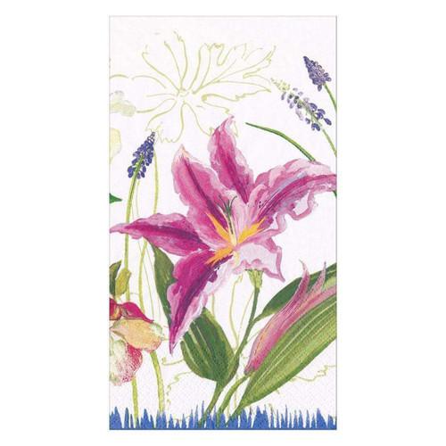Caspari Isabelles Garden Paper Guest Towel Napkins - 15 Per Package