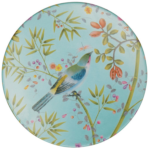 Raynaud Paradis Round Turquoise Bread & Butter Plate