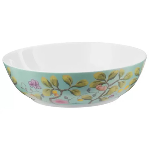 Raynaud Paradis Deep Round Turquoise Breakfast Coupe Plate