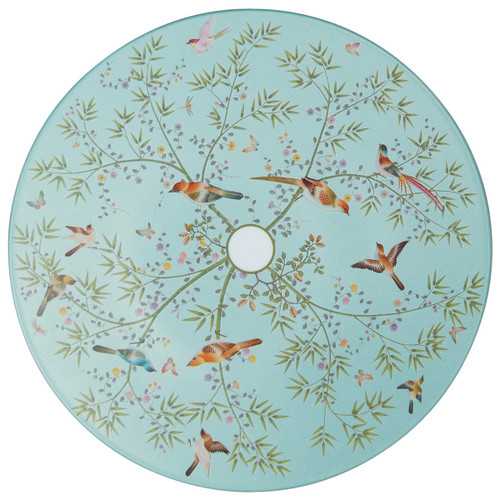 Raynaud Paradis N°1 Round Turquoise Dessert Flat Coupe Plate