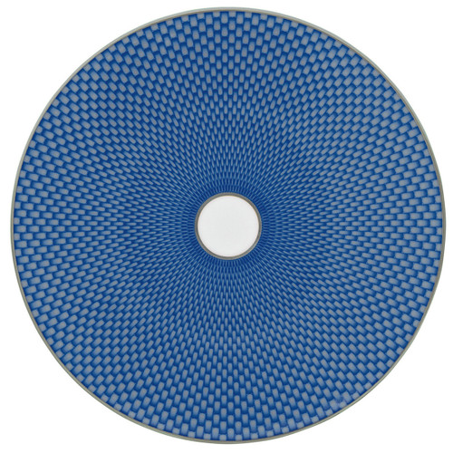 Raynaud Tresor Flat Motive N°2 Round Blue Dessert Coupe Plate