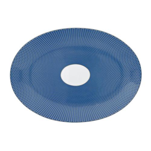 Raynaud Tresor Medium Motive Blue Oval Dish/Platter