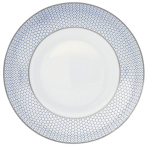 Raynaud Tresor Motive N°3 Round Blue Rim Soup Plate