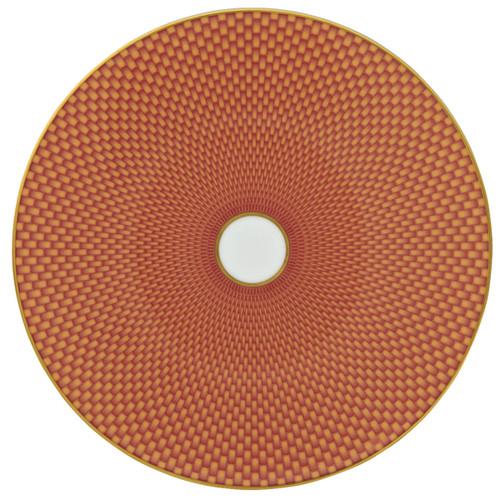 Raynaud Tresor Flat Motive N°2 Round Orange Dessert Coupe Plate