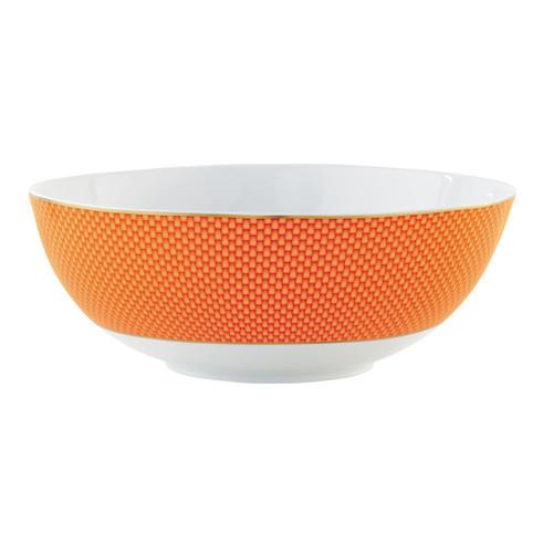 Raynaud Tresor Large Motive N°2 Round Orange Salad Bowl