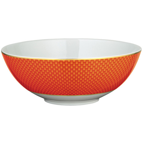 Raynaud Tresor Small Motive N°2 Round Orange Salad Bowl