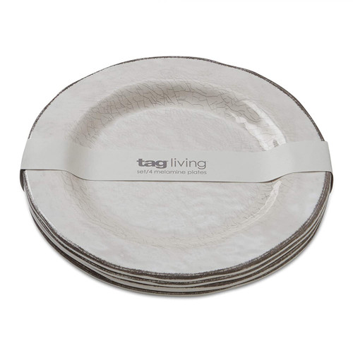 Tag Veranda Melamine Ivory Dinner Plate - Set of 4