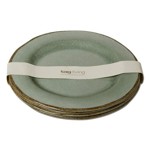 Tag Veranda Melamine Slate Blue Dinner Plate - Set of 4