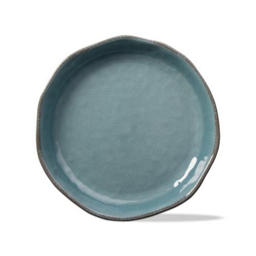Tag Veranda Melamine Slate Blue Large Shallow Bowl