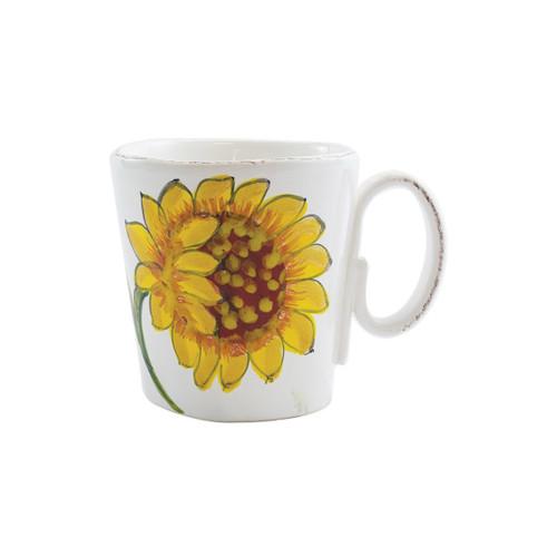 Vietri Lastra Sunflower Mug