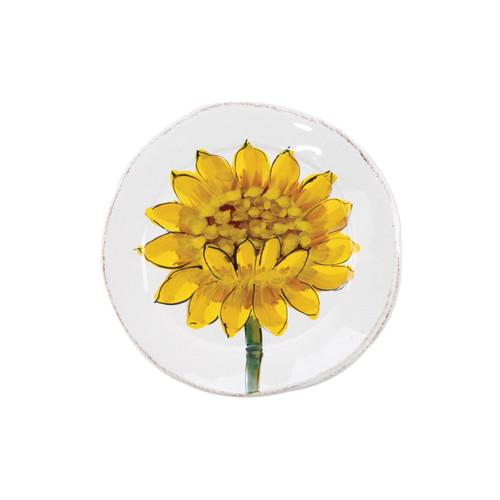 Vietri Lastra Sunflower Canape Plate