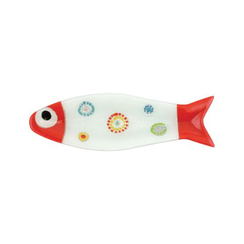 Vietri Pesci Colorati Medium Fish Tray - Red