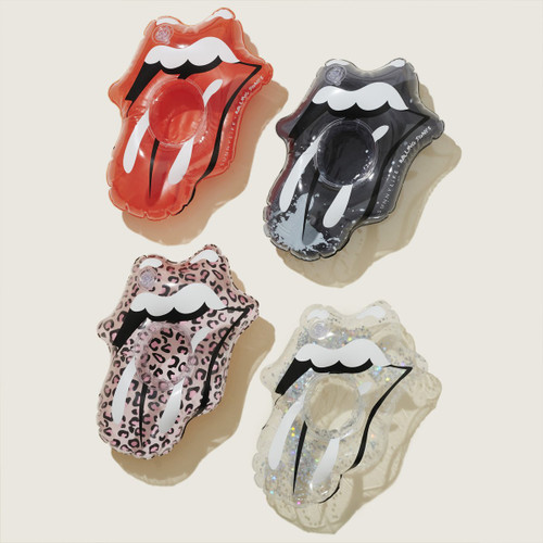 Sunnylife Inflatable Drink Holders Rolling Stones Lips - Set of 4