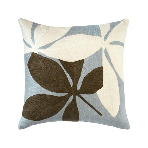 Judy Ross Textiles Fauna Celadon/Cream/Fig Pillow