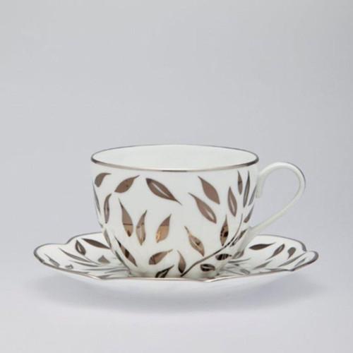 Royal Limoges Olivier Platinum Tea Saucer