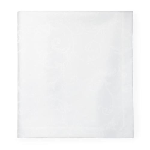 Sferra Varenna Round White Tablecloth