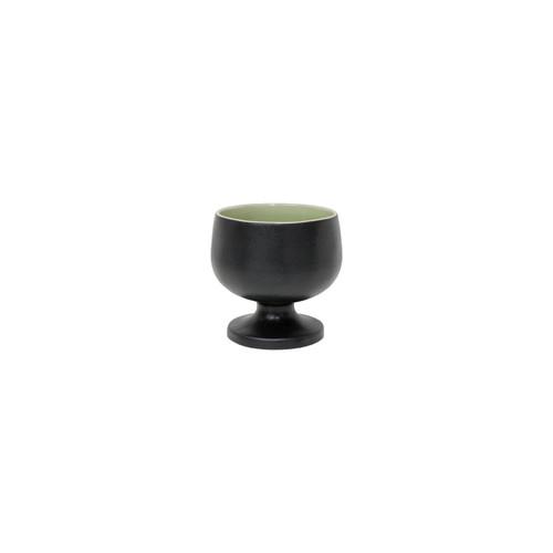 "Costa Nova Riviera Soup/Cereal Bowl Black-Green- 5.5"""