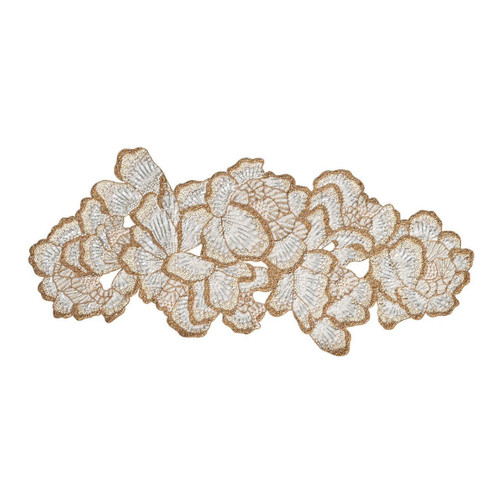 Kim Seybert Botanica White/Gold/Silver Runner