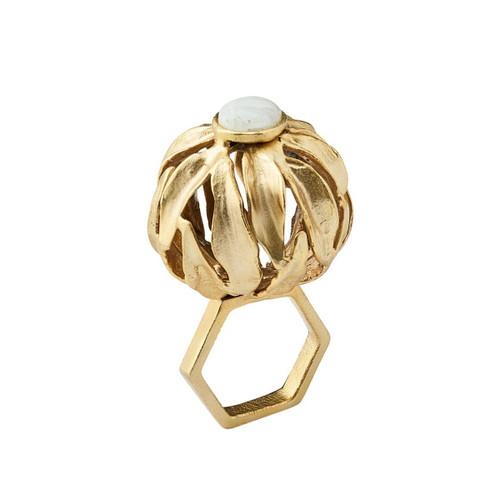 Kim Seybert Orb Gold Napkin Ring