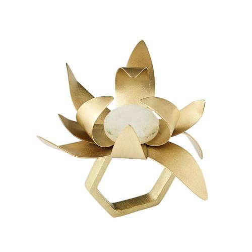 Kim Seybert Sunflower Gold/Crystal Napkin Ring