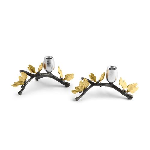 Michael Aram Butterfly Ginkgo Tall Candlerholder Set Of 2