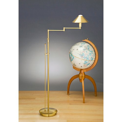 Holtkoetter Aging Eye Swing Arm Floor Lamp with Metal Shade #9424