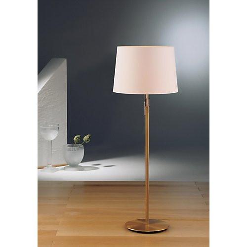 Holtkoetter Illuminator Floor Lamp in Antique Brass with Fabric Shade #2545