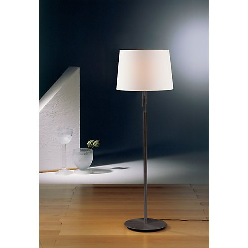 Holtkoetter Illuminator Floor Lamp in Hand Brushed Old Bronze with Fabric Shade #2545
