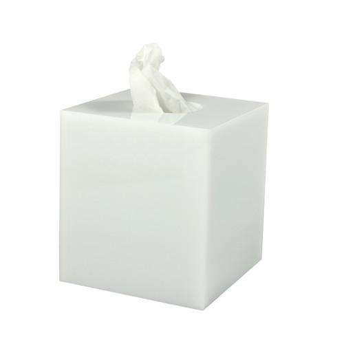 Mike & Ally White Ice Tissue Holder