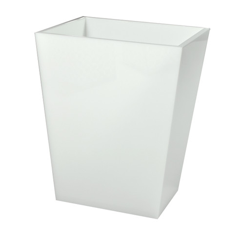 Mike & Ally White Ice Wastebasket and Liner