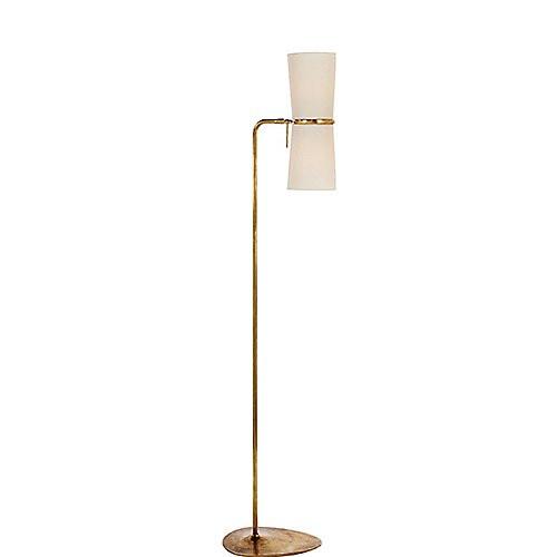 Aerin Clarkson Floor Lamp in Hand-Rubbed Brass & Linen Shade