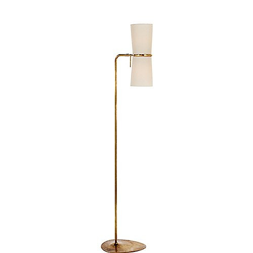 Aerin Clarkson Floor Lamp in Hand-Rubbed Brass & Linen Shade