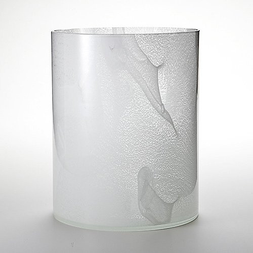 LABRAZEL BIANCA WHITE GLASS BATHROOM CUP TUMBLER FLORENCE ITALY HAND MADE BLOWN