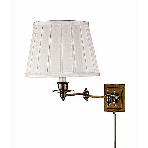 Triple Swing Arm Wall Lamp, Antique Brass