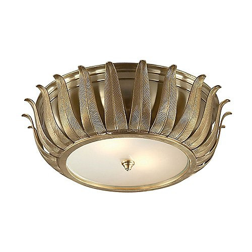 Alexa Hampton Audrey 2 Light 16 inch Natural Brass Flush Mount Ceiling Light