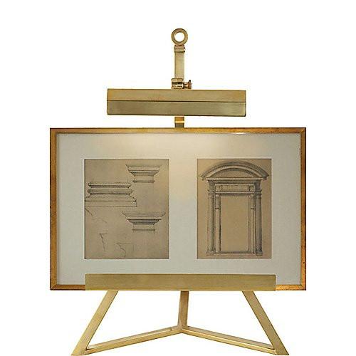 Visual Comfort Estelle Display Lamp in Natural Brass