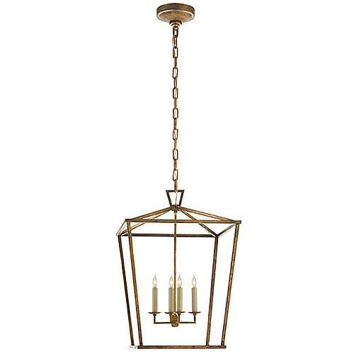 Visual Comfort Darlana Medium Lantern in Gilded Iron