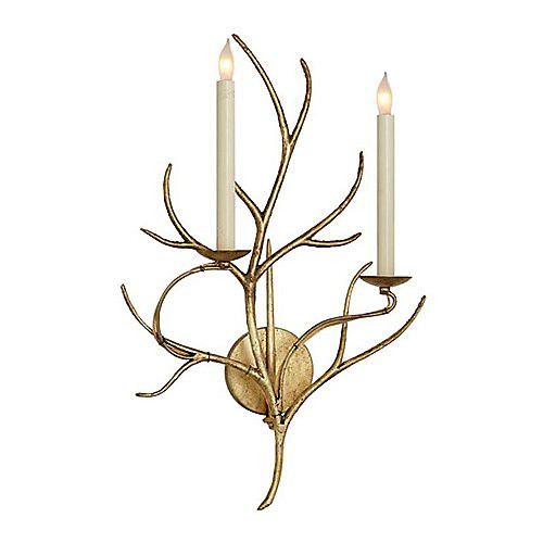 Visual Comfort E. F. Chapman Branch Gilded Iron with Wax Decorative Wall Light