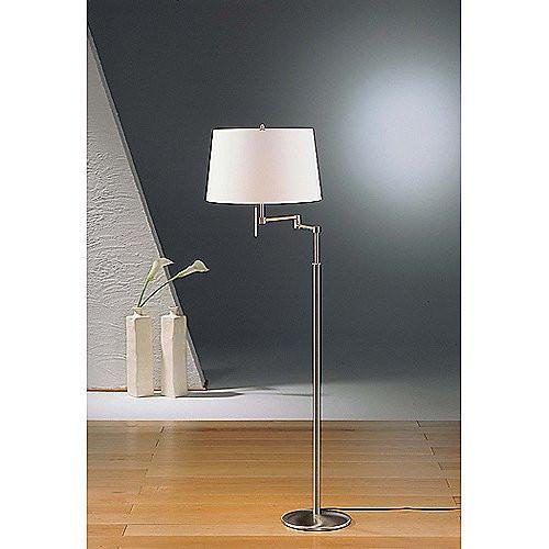 Holtkoetter Satin Nickel Swing Arm Floor Lamp #2541