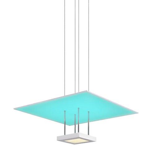 Sonneman Chromaglo Spectrum Square Reflector Pendant