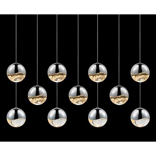 Sonneman Grapes 11-Light Rectangular Pendant
